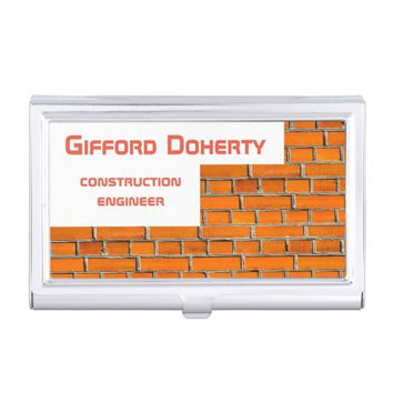 Brick wall construction customizable business card case