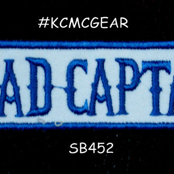 ROAD CAPTAIN Blue on White Small Badge Patch for Vest jacket SB452