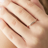 Rhinestone Chip Love Ring