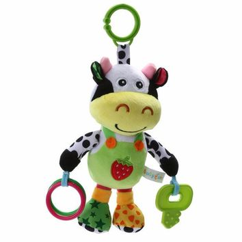 VONC1Y 13' Infant Rattles  Baby Music Hanging Bell Toy Doll Soft Bed Plush Toy Educational 13' Infant Rattles Plush Animal Stroller