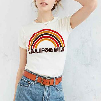 California Flocked Rainbow Tee