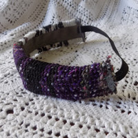 CLEARANCE Plum Mexican Blanket Thick Headband - Free Shipping to Continental US