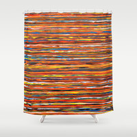 Sunset Shower Curtain by Claudia McBain