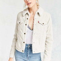 Levi's Sherpa Lined Corduroy Trucker Jacket - Urban Outfitters