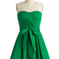 Zest is More Dress in Green | Mod Retro Vintage Dresses | ModCloth.com