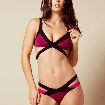 Mazzy Bikini Brief Burgundy