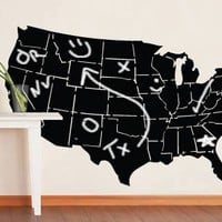 $175.00 USA map chalkboard surface decal by Dezignwithaz on Etsy