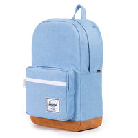 Herschel Supply Co.: Pop Quiz Backpack - Chambray / Tan Suede
