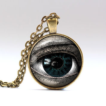 Eye pendant Anatomy jewelry Esoteric necklace SNW14