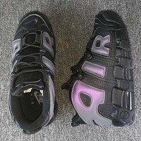 "Nike Air More Uptempo GS ""Reflective"" Fashion and leisure sports shoes"