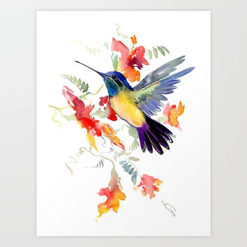 Hummingbird Art Print by sureart