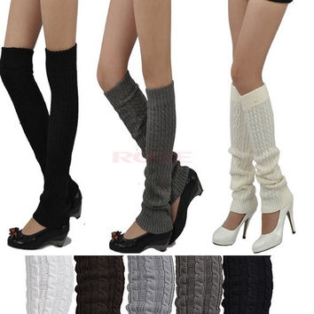 Women Winter Warm Knit Crochet Leg Warmers Leggings Socks 18920 Apparel & Accessories = 1652212356