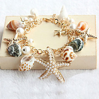 Ocean Starfish Natural Shell Bracelet