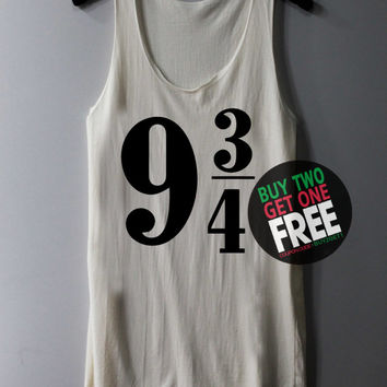 Platform 9 3/4 Shirt Sign Harry Potter Shirts Tank Top Tunic TShirt T Shirt Singlet - Size S M L