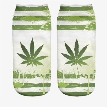 Cannabis Pot Leaf Socks