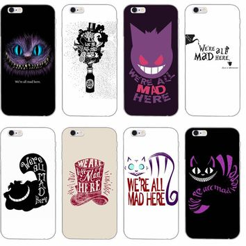 we're all mad here alice in wonderland phone case For Samsung Galaxy S3 S4 S5 S6 S7 edge S8 Plus mini Note 3 4 5 Core 2 Alpha