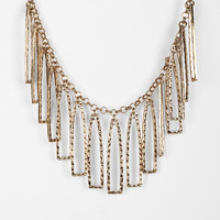 Urban Outfitters - Hammered Geo Fringe Necklace