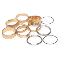 Mix & Match Band Ring Set | Wet Seal