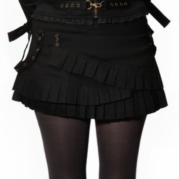 Hell Bunny Steam Punk Miniskirt - Black - Punk.com