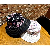 LV new tide brand letter printing personality wild fisherman hat