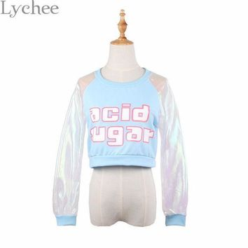 CREYONEJ OPAL FERRIE -  Transpearent Holographic ACID SUGAR T-shirt