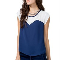 Sharp Color Block Tee