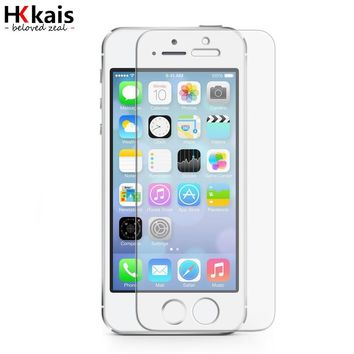 HKkais Ballistic Glass For Apple iPhone 5 5S SE Tempered Glass For iPhone5 5S SE Screen Protectors Protective Case