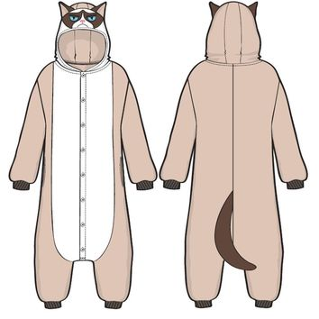 Grumpy Cat Jumpsuit Costume