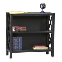 Linon Home Anna 2-Shelf Bookcase in Black