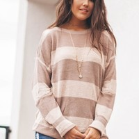 Can't Deny It Vintage Rose Cold Shoulder Sweater