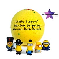 Little Dippers' Minion's  big 2 toy surprise Giant 20 OZ bath bomb