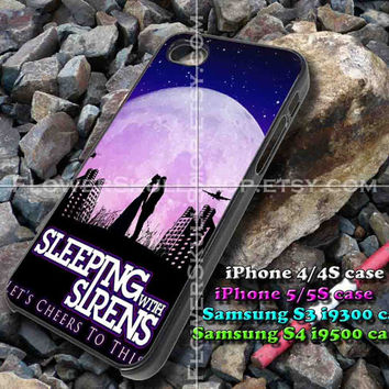 sleeping with sirens moon iphone case, iphone 4/4S, iphone 5/5S, iphone 5c, samsung s3 i9300, samsung s4 i9500, design accesories