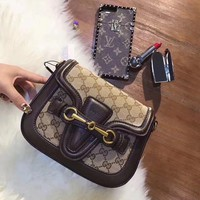 ''GUCCI'' Women Shopping Leather Crossbody Satchel Shoulder Bag