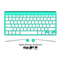 The Solid State Aqua Green Skin For The Apple Wireless Keyboard