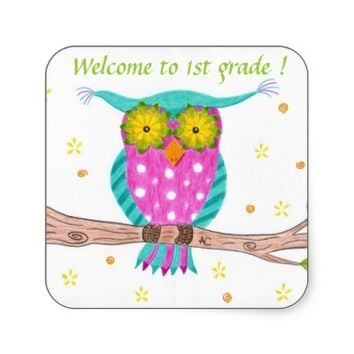 Welcome to 1st grade stickers from Zazzle.com