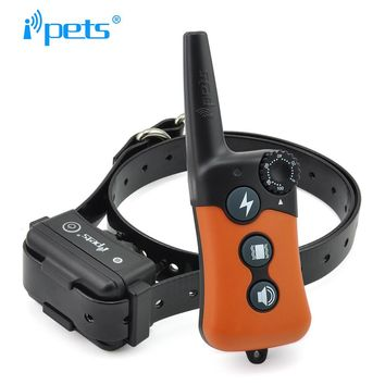 iPets PET619-1 Electric Dog Training Collar Large Dog Training Collars 300m Remote Training Collar Bark Dog Collar
