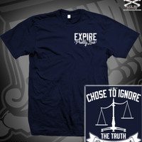 EXP TRUTH SCALE TEE ON NAVY