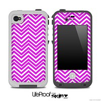 Purple and White Chevron Pattern Skin for the iPhone 5 or 4/4s LifeProof Case