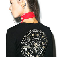 Skelescope Cardigan BLACK