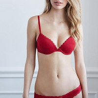 Lace-Trimmed Cotton-Blend Bikini Panty