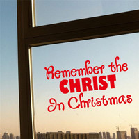 remember christ in christmas quotes wall stickers room decor 054. diy vinyl gift home decals festival mual art poster 3.5 SM6