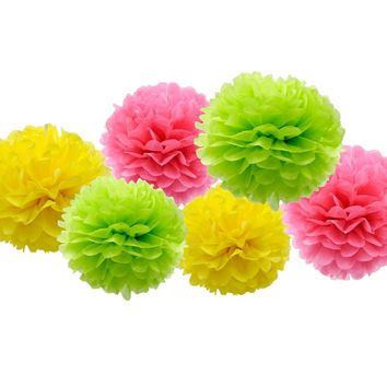 Paper Pompoms Photobooth Party  Decoration