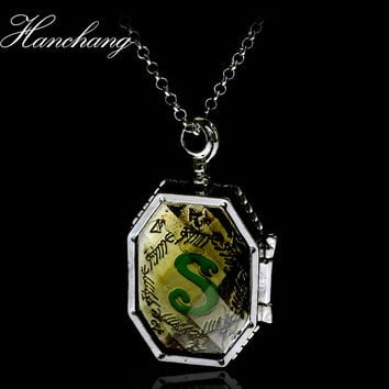 Movie Jewelry Necklace Ravenclaw Resurrection Stone Horror Pendant necklace Horcrux Locket Women Men NECKLACE Gift For Fans