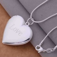 Photo Locket Pendant Necklace