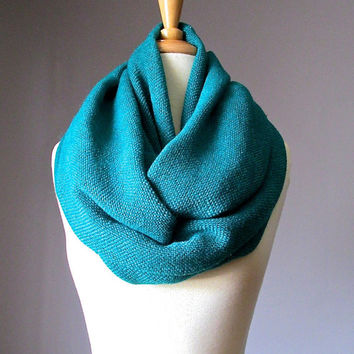 Chunky winter scarf, Teal scarf, winter scarf, toasty warm scarf, Blue - Green scarf