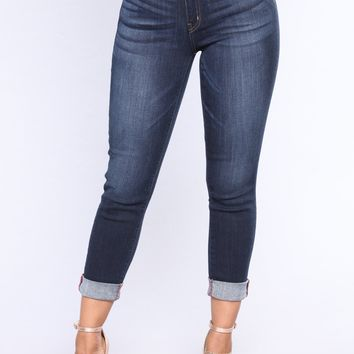 Whole Crew Ankle Jeans - Dark Denim