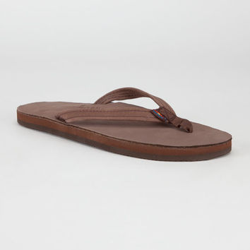 Rainbow Narrow Strap Womens Sandals Expresso  In Sizes