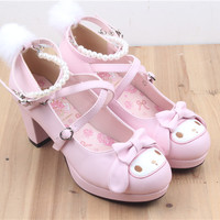 Melody lolita pearl sandals free shipping from HIMI'Store