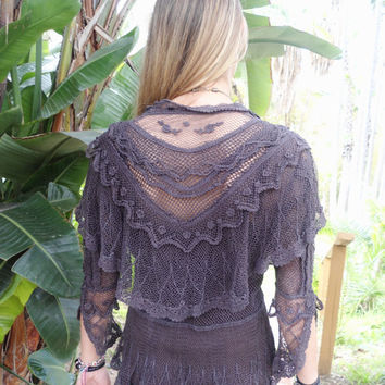 Super Gorgeous, Whimsical Top, Romantic Blouse, Crochet Top, Victorian Style Top, Feminine Blouse