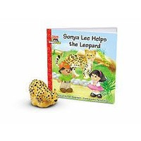 Fisher-Price Little People Zoo Talkers Book & Figure Set Sonya Lee Helps the Leopard
